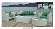 Refreshing Green Sofa Made Of PE Rattan 123 Ottoman Sectional Sofa Vine Garden Outdoor Furniture Sofa Set 2016 HFA030