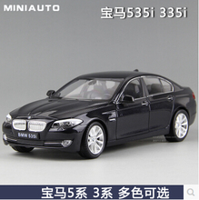 New 535i 535Li M5 1:24 welly FX 5 series Original simulation of high-quality alloy car model Gold luxury cars Collection Toy Boy
