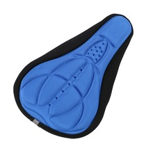 Mountain Bicycle Cycling Bike 3D Gel Silicone Seat Pad Saddle Soft Cushion Cover Outdoor