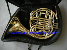NEW China Brand CTE 4 key double French Horn Golden One body with case Free shipping From China