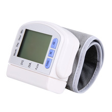 Hot LCD Digital DisplayScreen Home Automatic Wrist Blood Pressure Pulse Sphygmomanometer and Tonometer Monitor Heart Beat Meter