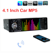 Viecar Car MP5 Player 4.1'' HD Screen Display Auto Video Audio USB FM SD AUX In Port Support Rear View Camera (With or Without)