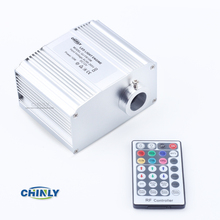 CREE chip 10W RGBW LED twinkle Fiber Optic Engine Driver with 28key RF Remote controller for all kinds fiber optics(China)