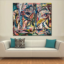 QCART Jackson Pollock Canvas Painting For Living Room Home Decoration Oil Painting Wall Art Picture No Frame