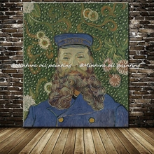 100% Hand-painted Impressionist Oil Painting Reproduction Masterpiece Portrait Of Joseph Roulin Painting By Vincent Van Gogh