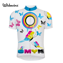 CMKY Butterfly Cycling Jersey USA/RUS/UK/FR/AUS/CANADA Bike Team white Clothing Shirt Bicycle Outdoor Breathable Sportswear 5622