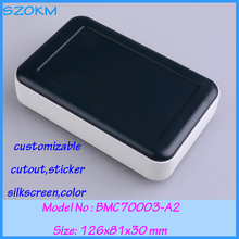10 pcs/lot plastic handheld enclosure small electronic enclosure project boxes szomk plastic 126x81x30 mm