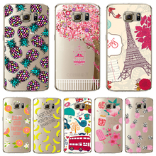 S6 Soft TPU Cover For Samsung Galaxy S6 Case Phone Shell Cases Balloon Flowers Artistic Eyes Cactus Best Choice