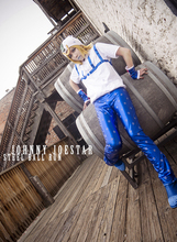 JoJo's Bizarre Adventure Steel Ball Run Gyro Zeppeli Cosplay Costume with hat and sleeves(China)