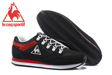 Free Shipping Classic Men's Sports Shoes,High Quality Original Le Coq Sportif Men's Running Shoes Black/Red Size Eur 40-45