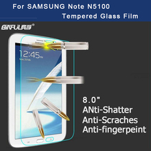 BINFUL Premium Tempered Glass Screen Protector for Samsung Galaxy Note 8.0 N5100 N5110 Tablet Protective Film Free shipping