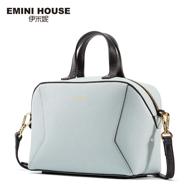 EMINI HOUSE Geometric Style Goat Pattern Genuine Leather Women Messenger Bag Luxury Handbags Women Bags Designer Shoulder Bags(China)