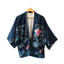 New Arrival Women Fashion Bat Phoenix Printing Coat Shawl For Wedding Evening Gown Top Quality(China)