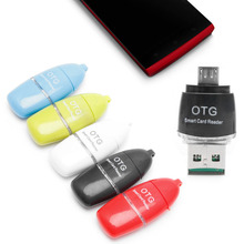 Micro OTG USB to USB 2.0 Micro TF SD Card Reader Adapter For Table Android Phone #K400Y# DropShip(China)