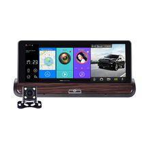 7 Inch IPS Car DVR Full HD 1080P Dual Lens With Rear View Camera ADAS Camera Recorder Car Center Console GPS Navigation Android