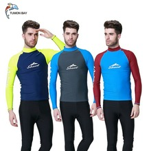 Long Sleeve Rashguard Swimsuits  2017 Summer Anti UV Quick Dry Rash Guard Surf Suit UPF 50+ Scuba Diving Suit