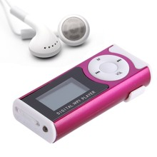 "USB Mini Clip MP3 Player LCD Screen Support 16 GB Micro SD TF Card Slick Stylish Design Sport Compact 1.3 ""(China)"
