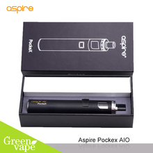 Electronic Cigarette Aspire PockeX Kit Best Mouth to Lung Vapor Starter Kit Pocket Ego Aio Vape Pen with 1500 mah Battery(China)