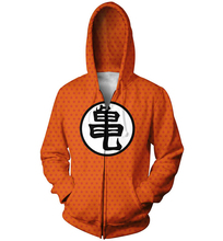 Anime Dragon Ball Z Goku kamehameha Zip-Up Hoodie 3d print Zipper Sweatshirts Women Men Jumper harajuku Tops Sweats Outfits