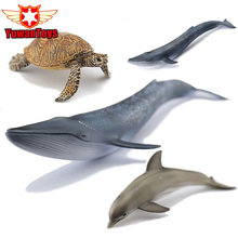 15-30cm PVC Sea Life Simulation Model Toy Whales Sharks Fish Turtles Dolphins Penguins Blue Whale Marine Life Figure Toys Gifts(China)