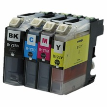 4 x LC123 LC-123 LC 123 XL LC123XL Ink Inkjet Cartridges For Brother MFC DCP J4110DW J132W J152W J552DW J752DW J172W Printer(China)