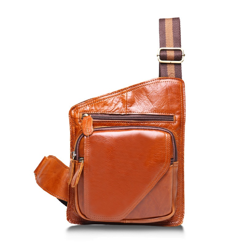 Men Vintage Crossbody Bag Luxury Genuine Real Leather Cowhide Check Pakcs Solid Color for Travel Causal style<br>