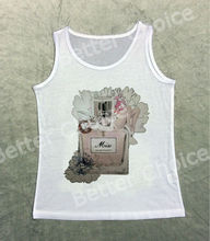 Track Ship+Vintage Vest Tanks Tank Tops Camis Old Time Lady Beauty Laying On My Favorite Perfume with Fresh Flower 0975
