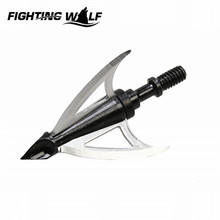 Wolf Tooth Airsoft Paintball Outdoor Stainless Steel 3 Blade Archery Arrowhead Crossbow Compound Bow Hunting Shooting Accessory!(China)
