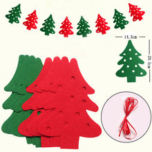2.5M Christmas Garland Bunting Flags XMAS Deer Tree Socks Elk Letters Home Market Mall Decorations Party Banner Decor MA874698