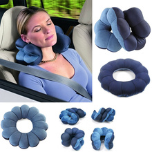 Blue Comfort Total Pillow Travel Pillow Twist Neck Back Head Cushion Support KT0115(China)