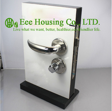 Free Shipping,Brushed Stainless Steel handle door lock, Interior  Door Lock,double bolts mortise lock