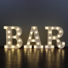 NEW LED night light Letter lamp bedroom children room Party Club Bar clothing stores light desk LED lamps ZA902