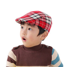 2017 Fashion Kids Boys Girl Cap Toddler Children's Flat Cabbie Hats Cotton Caps Can Choose Color Free Shipping 5 PCS(China)