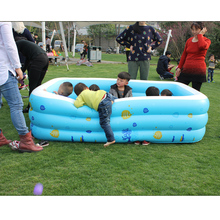 Thicken Large Zwembad Family Havuz Swimming Pool Summer Inflatable Children Piscinas Babys Paddling Pool Size 220*155*60cm(China)