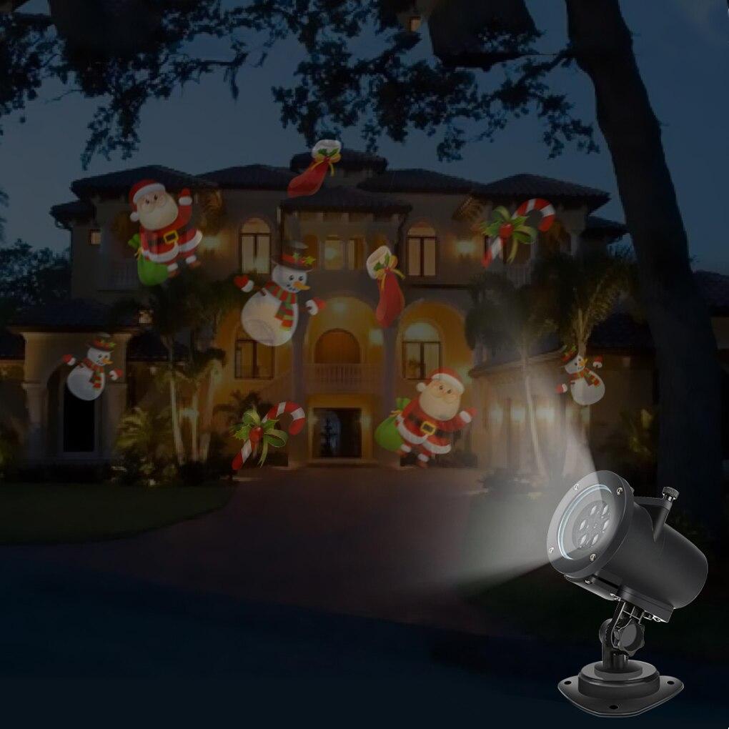 16 Patterns Christmas Laser LED Projector Lights Landscape Spotlight For Halloween Birthday Wedding Party Decoration<br>