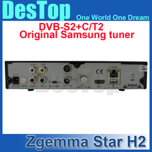 DVB T2 satellite tv receiver Zgemma Star H2 Twin Tuner Receiver DVB S2 + T2 Better than Cloud Ibox iii decoder 3pcs/lot free DHL(China)