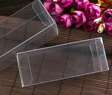 4x4x8cm  Plastic PVC Clear Commodity Phone Boxes Underwear Tea Fruit Storage Case Box