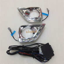 July King LED Daytime Running Lights DRL LED Fog Lamp Case for Toyota Reiz Mark X 2011~2013, 1:1 Replacement, fast shipping(China)