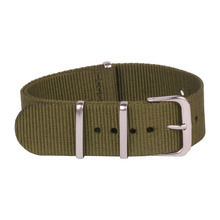 Buy 2 Get 20% OFF) Classic Watch 16mm bracelet Army Green Military nato fabric Woven Nylon watchband Strap Band Buckle belt