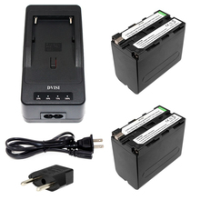 2pcs NP-F970 F970 NP-F960 Rechargeable Battery+1Quick Rapid Charger for SONY MVC-FD90 FD91 FD92 HVR-HD1000 F975 F970 F960