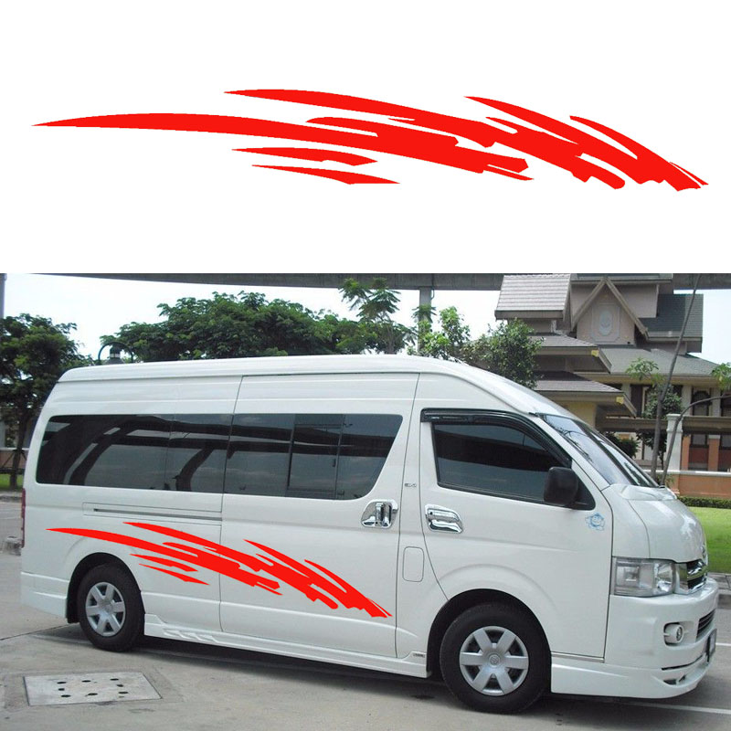 2x 2m Caravan Motorhome Camper Van Vinyl Graphics Stickers Decals Vito Transit SUV (one for each side)<br>