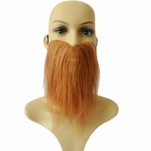 Halloween cosplay carnival Stylish Costume Party brown Fake big mustache Funny facial hair kit 3 color