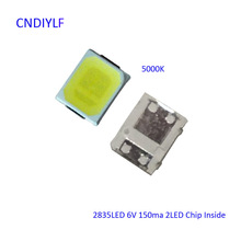 New 6V 150ma 5000K 1W LED Chip 2835 100PCS 2 LED Chip Inside Free Shipping Via Regisiter Air Mail