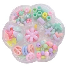 NEW 3D Puzzle Games DIY Beads Plastic Children Baby Educational Toy Handwork Bracelets toys with rope