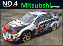 Large 1:10 RC Car High Speed Racing Car 2.4G Mitsubishi 4 Wheel Drive Radio Control Sport Drift Racing Car Model electronic toy(China)