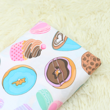 140*50cm Maccaron Chocolate Cup Cake Dessert cotton Fabric Child boy Clothes/Diy Handmade Craft Bedding Home Cloth Purse Quilt