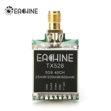 Eachine TX526 5.8G 40CH 25MW/200MW/600MW Switchable AV Wireless FPV Transmitter RP-SMA Female For FPV Multicopter(China)