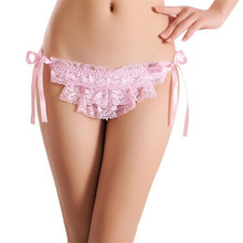 Buy 2017 New Women Sexy Lace Lady Briefs Lingerie Knickers G-string Thongs Panties Underwear biancheria intima sexy