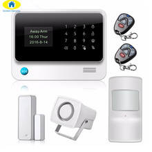 Golden Security G90B Wi-Fi GSM GPRS SMS Call Security System 2G wifi Personalise Alarm System APP Control anti-pet sensor(China)