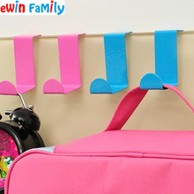 2Pcs/Lot Candy Color Stainless Steel Nail Free Door Hook Universal Colorful Iron Hanger